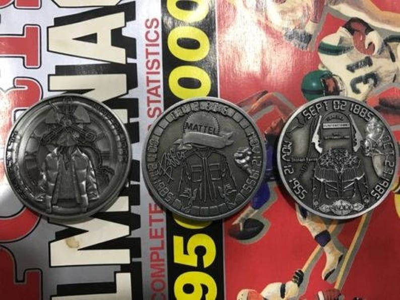 Back to the Future - Challenge Coins (limited edition) TRILOGY SET!!