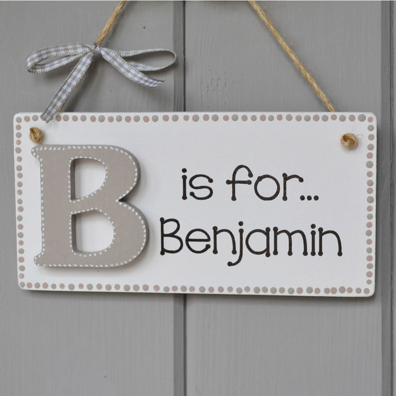 Personalised Alphabet plaque baby girl or boy gift and image 0