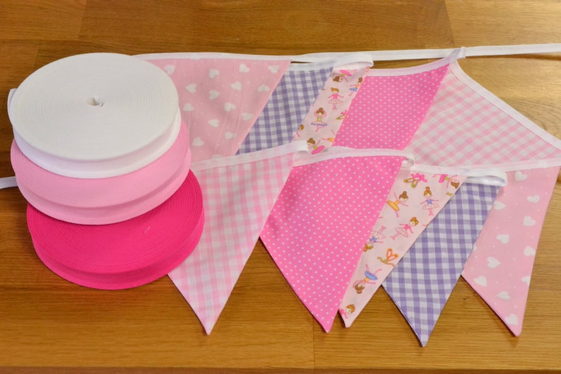 Ballet themed double sided fabric bunting 10 15 or 20 flags. image 0