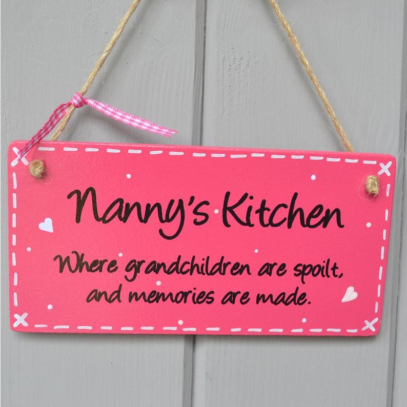 Nanny's Kitchen Plaque where grandchildren are spoilt. image 0