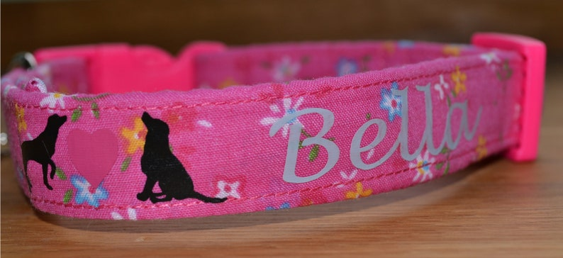 Personalisation add on for handmade dog collar. image 0