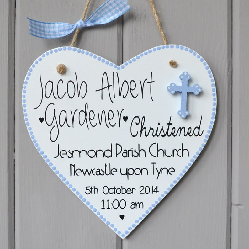 Personalised Christening plaque. Personalised baby boy gift image 0