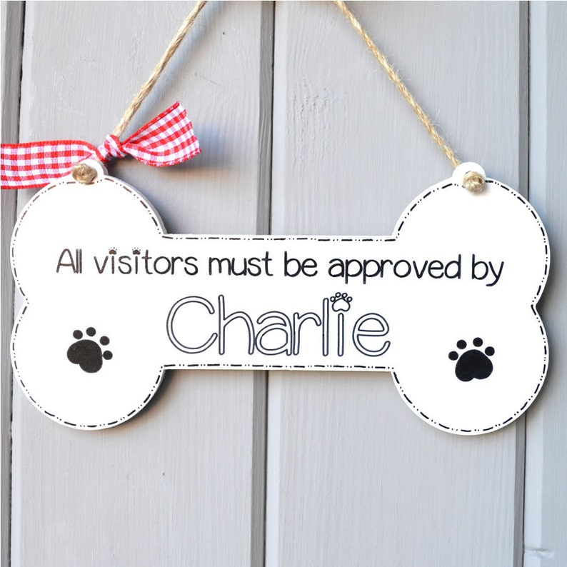 Handpainted personalised novelty dog lover sign All visitors image 0
