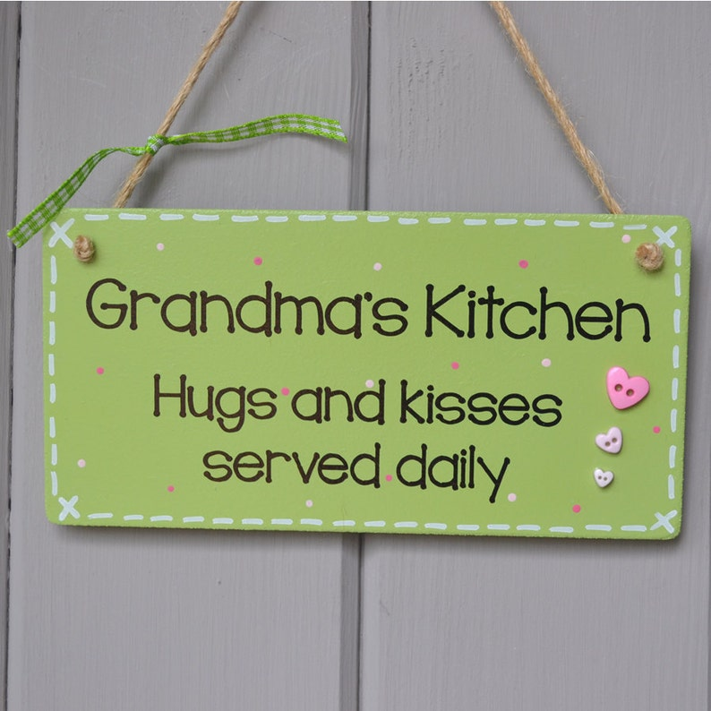 Grandma's Kitchen Plaque Hugs and kisses served daily. image 0
