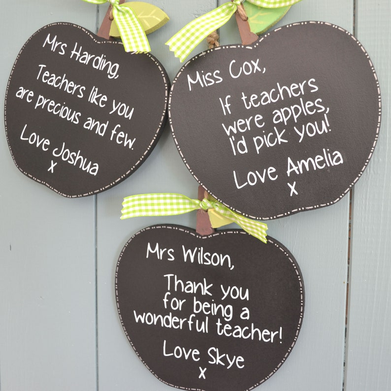 Personalised Teacher apple gift.  End of school present image 0