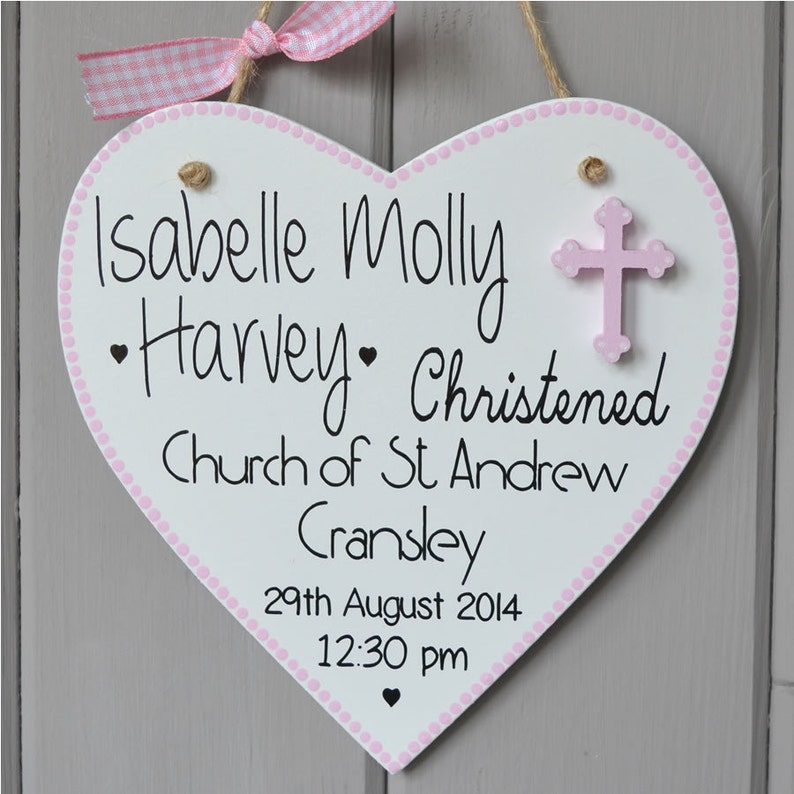 Personalised Christening plaque. Personalised baby girl gift image 0