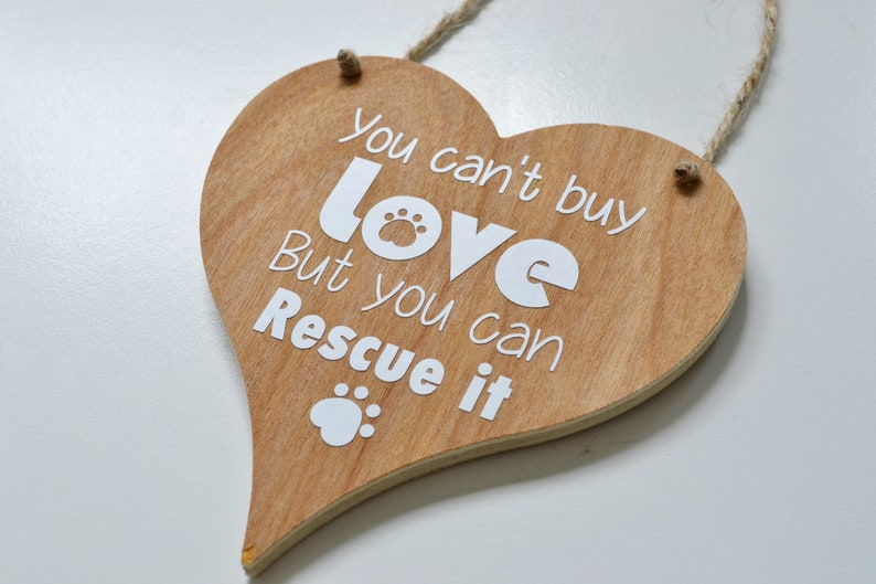You can't buy love but you can rescue it rustic wooden image 0