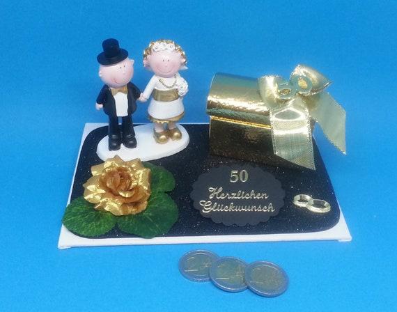 Geldgeschenk Geschenkidee Goldene Hochzeit Brautpaar 50 Jahre