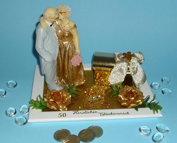 Geldgeschenk Gutschein Goldene Hochzeit Brautpaar