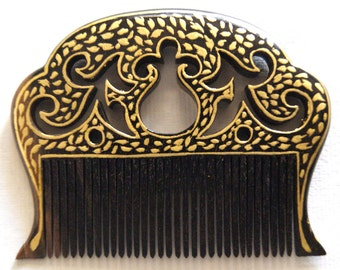 Hair desinger Comb gold hand painted