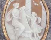 Victorian Gold Mounted Shell Cameo
