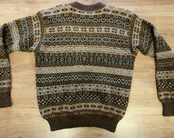 3882cc218a Hand Knit Wool Fair Isle Jumper