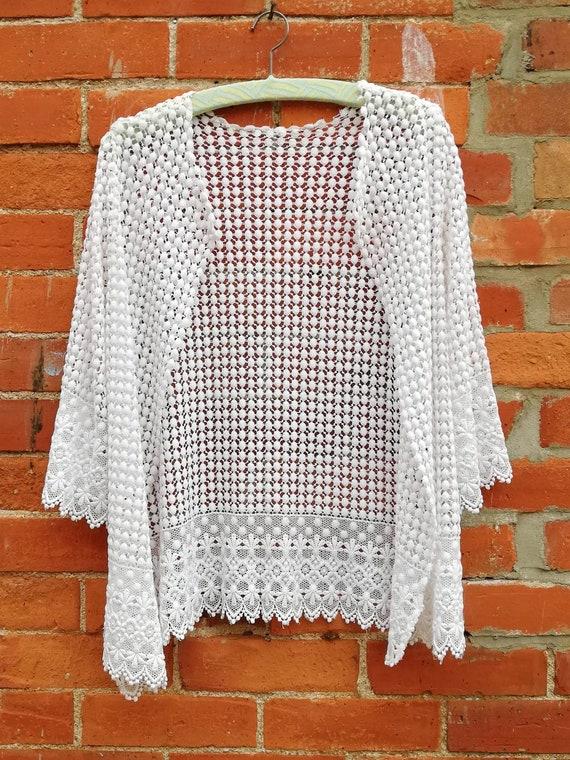 Edwardian White Chemical Lace Jacket