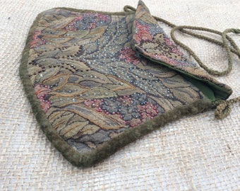 Arts & Crafts Beaded Tapestry Bag