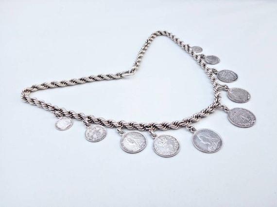 Victorian Silver Penny Necklace