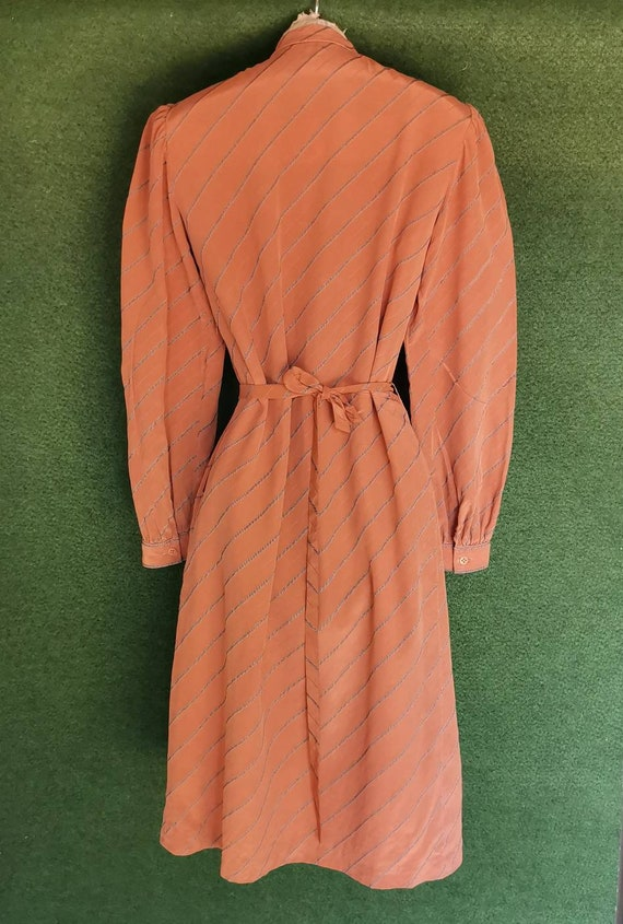 Vintage 1920s Style Silk Day Dress with Mandarin … - image 2