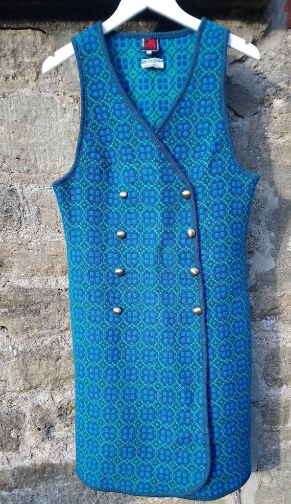 1960s Welsh Tapestry Wool Tabard Dress Gilet