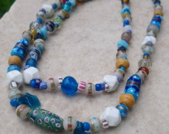 A Beautiful Collection of Antique Venitian Glass Trade Beads