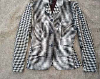 1930s 40s Wool Check Skirt Suit