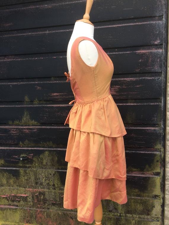 1950s Peach Pink Tonic Prom Dress - image 3