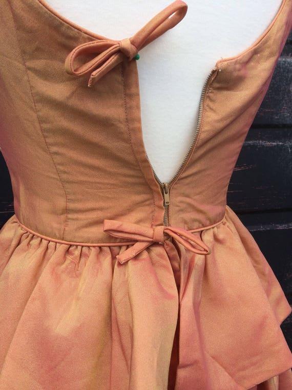 1950s Peach Pink Tonic Prom Dress - image 6