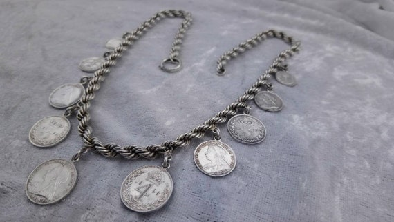 Victorian Silver Penny Necklace