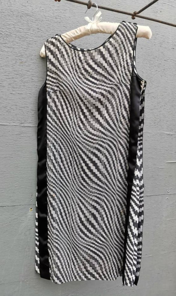 1960s Op Art Mini Dress