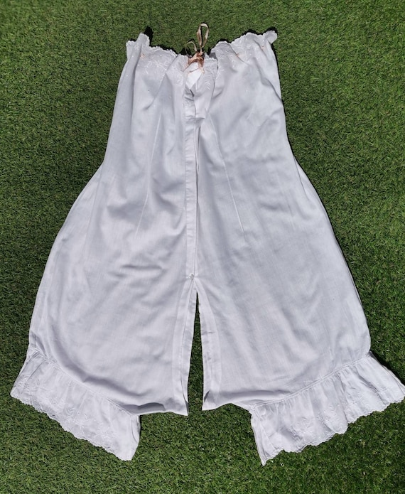 Antique White Cotton Strapless Camiknickers