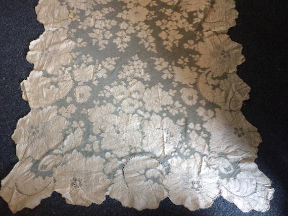 Antique Silk Lace Wrap