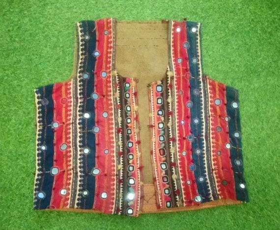 Antique Indian Mirror Work Shisha Embroidery Waist