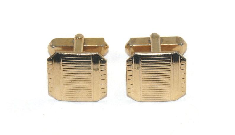 Vintage Swank Gold Tone Octagonal Cuff Links Swank Hallmark.