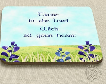 Christian coaster - Scripture coaster - encouraging Bible verse - Trust in the Lord