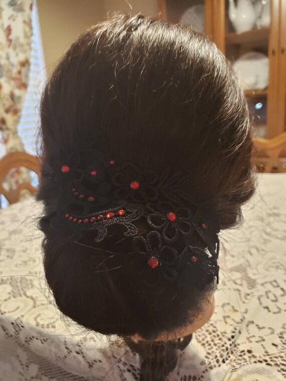 Beautiful customized lace applique hair piece