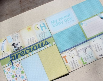 Precious Boy -Two 12 x 12 Scrapbook Pages or Kit