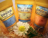 Relaxing Organic Bath Salts orange and lime lavender, chamomile and Eucalyptus super soaks peppermint and lemon mood booster salt
