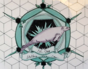 Steller's Sea Cow: Commemorative Plate Honoring Extinct Animals (Series No.2)