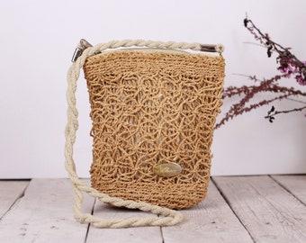 eea02ce18c Borsa di paglia crossbody bag - borsa a tracolla piccola - Vintage cinghia  lunga - borsa di paglia piccola borsa - borsa a tracolla Organizzatore ...