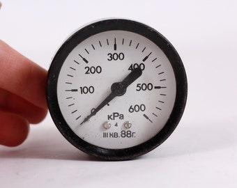 Vintage Industrial Pressure Meter Pressure Gauge Air Working Gauge Parts Steampunk Project Analog Manometer