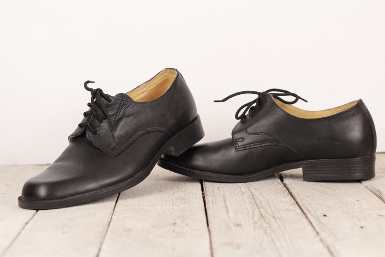 fda6d04b04374 Vintage Genuine Leather Shoes, Black Leather Shoes, Dress Shoes for Men,  Dress Black Shoes, Man's Leather Shoes, Made in Bulgaria