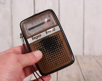Radio Receiver, Super Sound, Portable Transistor