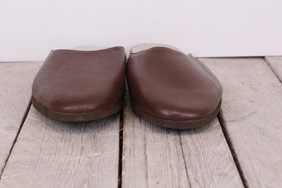 Vintage Traveling Slippers Genuine Leather Slippe… - image 4