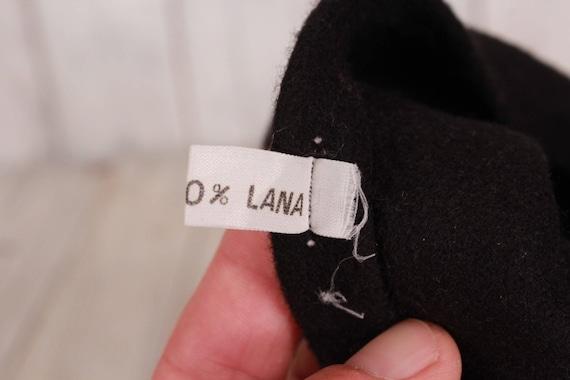 Black wool beret, Vintage beret, Old beret, Black… - image 7