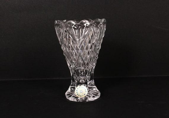 Crystal Vase Small Crystal Vase Cut Crystal Vase Etsy