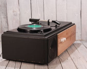 Vintage record player USSR Riga, Soviet record player, Old gramophone, Vinyl record player, Recods turntable phonograph with big speaker