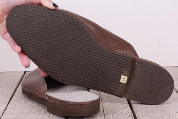 Vintage Traveling Slippers Genuine Leather Slippe… - image 6