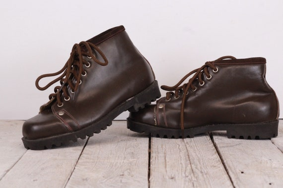 Vintage Leather Tourist Children's Brown Shoes, Ch