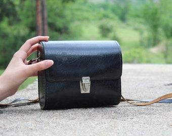 Flashlight case Chaika, Leather case, Leather bag, Leather satchel, Black man bag leather, Black leather case, Travel case, Steampunk item