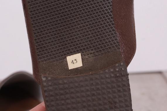 Vintage Traveling Slippers Genuine Leather Slippe… - image 7
