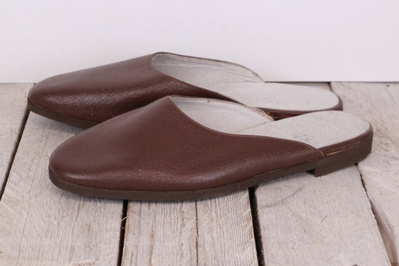 Traveling Slippers Genuine Leather Slippers Flats