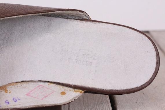 Vintage Traveling Slippers Genuine Leather Slippe… - image 5